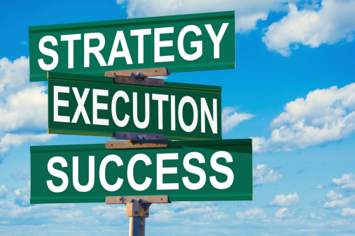 Intersection of Strategy, Execution, Success